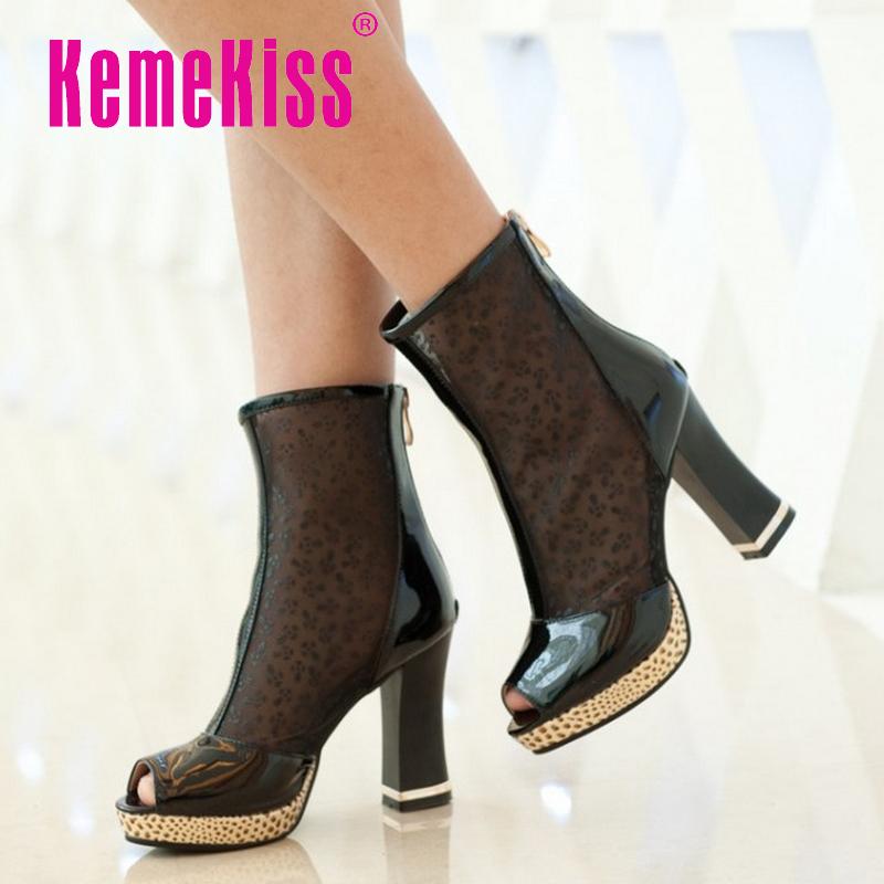 women platform high heel shoes cutout brand lady spring peep toe fashion heeled pumps heels shoes plus big size 32-44 P16864<br><br>Aliexpress