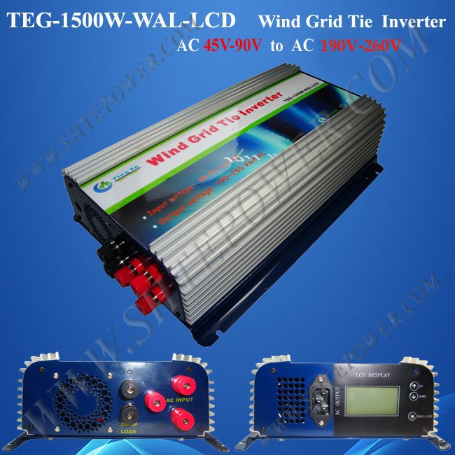 1.5kw wind turbine on grid power inverter/converter for 3phase ac output wind turbine generator(China (Mainland))