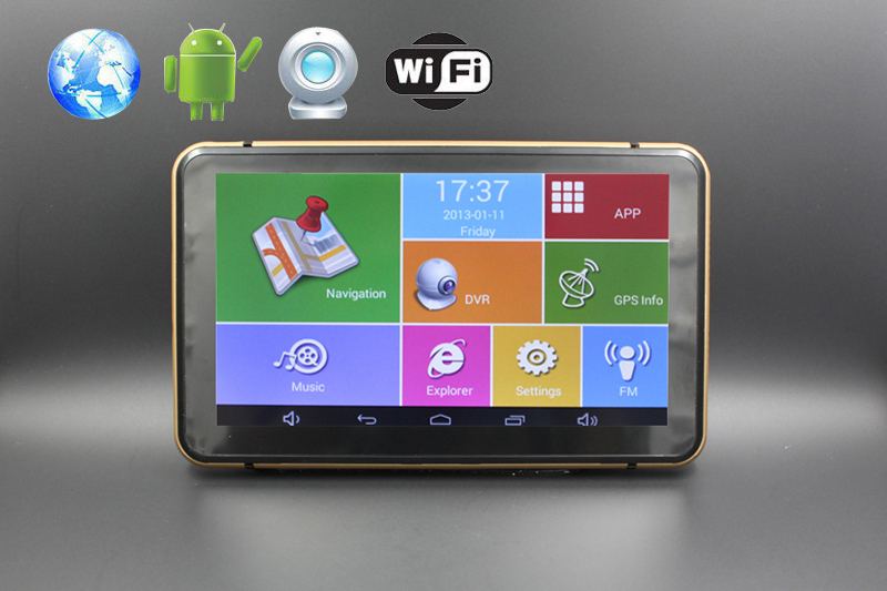 Android GPS Navigation 7inch touch screen wifi/bluetooth /DVR/FMT 8G flash with map(China (Mainland))