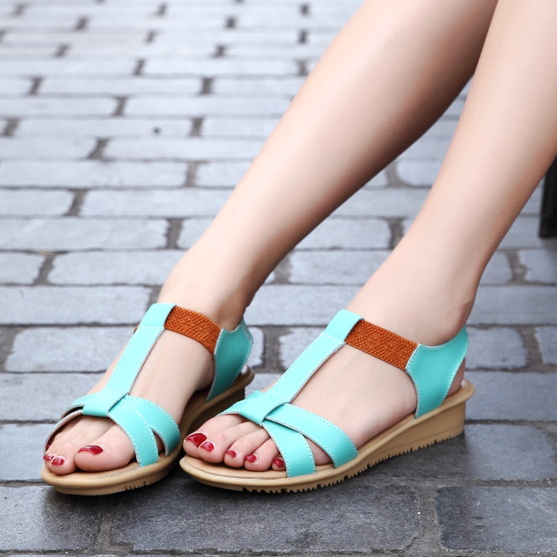 summer new comfortable flat bottom spelling color student