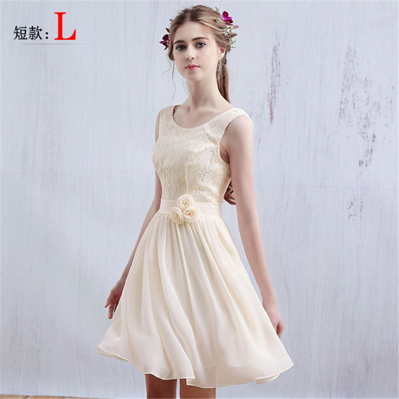 New Women Lady Fitted Waist Lace Mech Patchwork Bridesmaid Performance Graduate Party Sister Dress(China (Mainland))