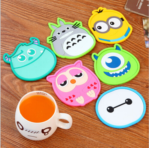 Cute cartoon silicone drink coaster Adiabatic placemat kitchen dining cup mats JJ0026(China (Mainland))