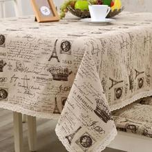 Tablecloths Europe Style A Small Crown Linen Cotton Table Cloth Cover  Coffee Table  Rectangular Tablecloth EMS Free Shipping(China (Mainland))