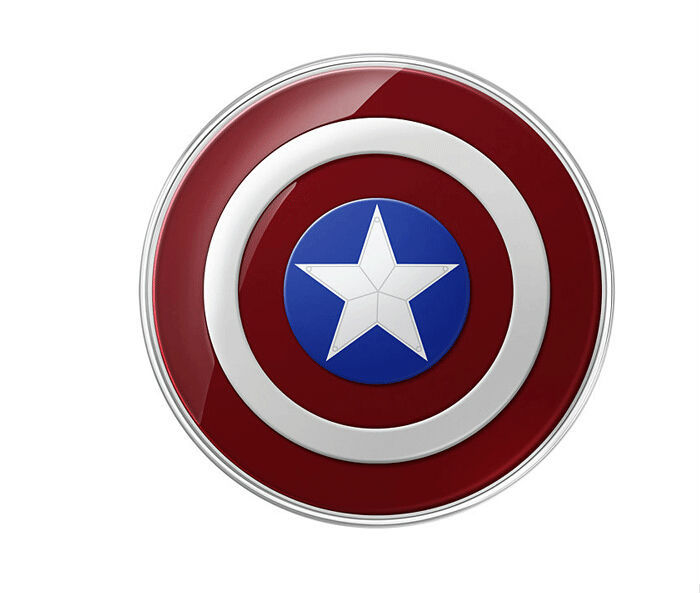 Avengers Original QI Wireless Charger For Samsung Galaxy S6/S6 Edge G9200 G920F G9250 G925F Captain America Shield Charging Pad(China (Mainland))