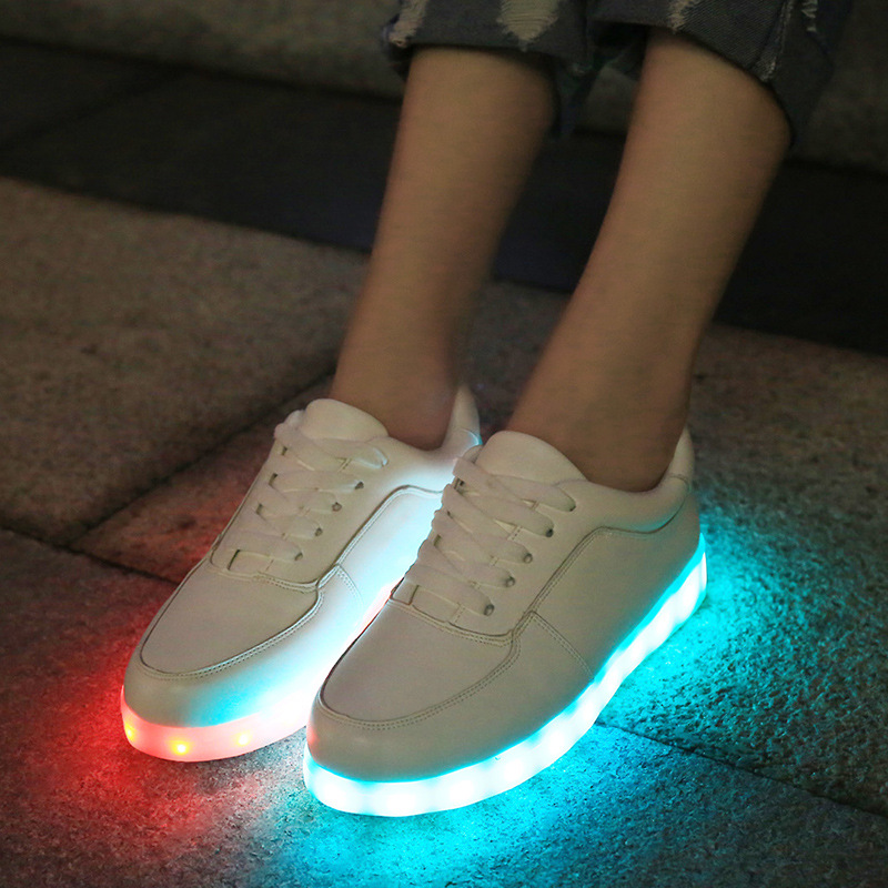 High Quality Led Luminous Shoes For Women Men Simulation Sole Led Shoes For Adults Chaussure Lumineuse zapatos mujer LEA3526
