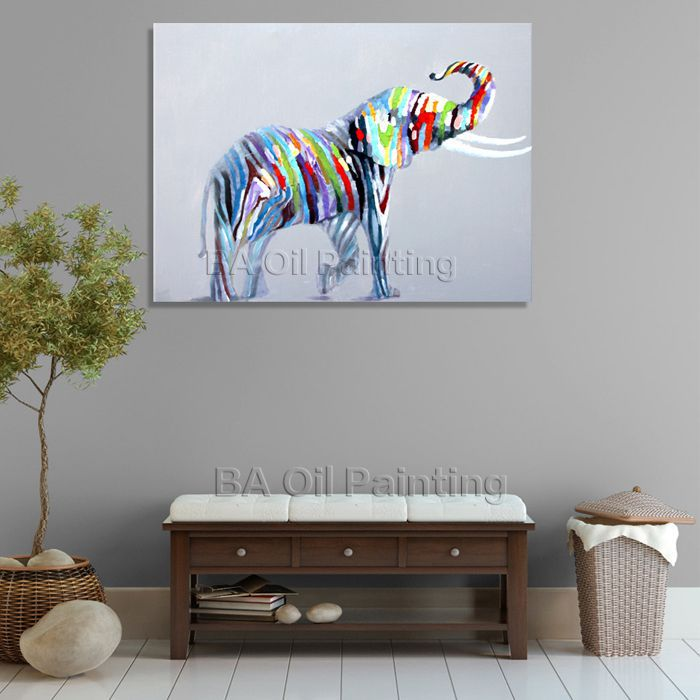 1 Piece Picture Hot Sell Abstract Elephant Modern Home Wall Home Decor Painting Canvas Art Oil