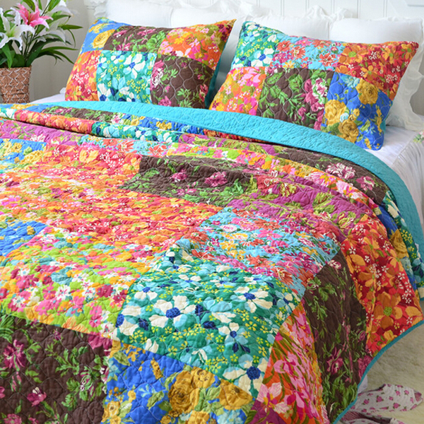 3pcs Air-conditioning Hawaiian Quilts Warm Original Single Cotton Quilted Bed Cover Sheets(China (Mainland))