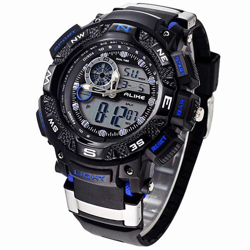 ALIKE Relogio Masculino Waterproof Outdoor Sports G Style Shock Watches Men Quartz Hours Digital Watch Military LED Wrist Watch(China (Mainland))
