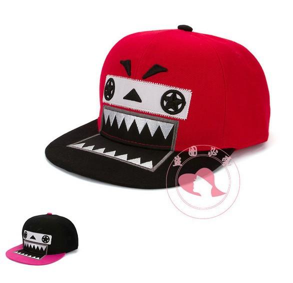 Free shiping 5pcs /lot NEW Fashion Sunhat big mouth Color Matching Baseball Cap Hip-hop Cap(China (Mainland))