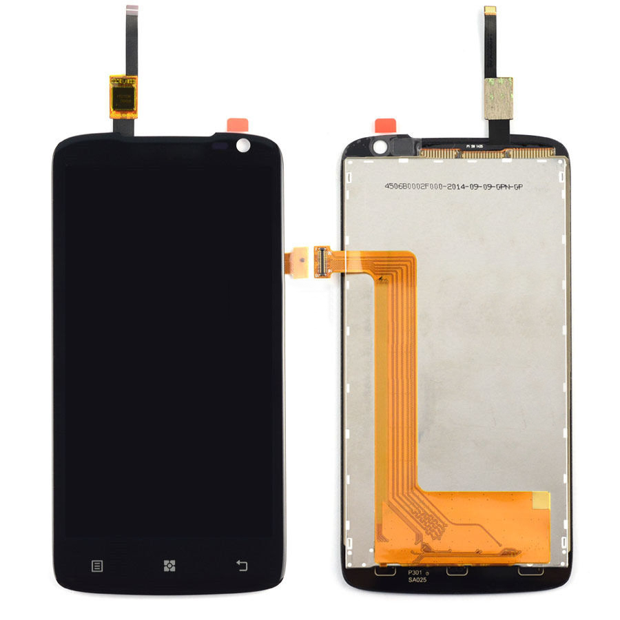 Black Touch Screen Digitizer + LCD Display Assembly Replacement FOR Lenovo S820 Free shipping