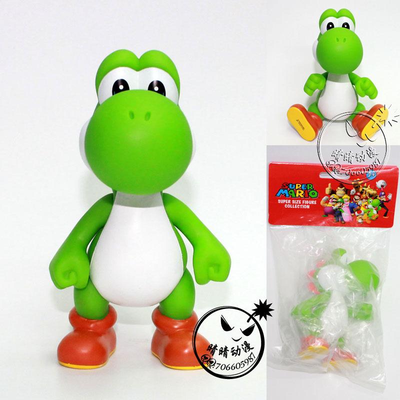 13CM PVC YOSHI Super Mario Bros Action Figures green colors mario Classic toys Free shipping(China (Mainland))