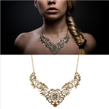 Beadwork Jewelry Bridesmaid Bib Choker Necklace Maxi Colares Femininos Vintage Necklace For Women E0081