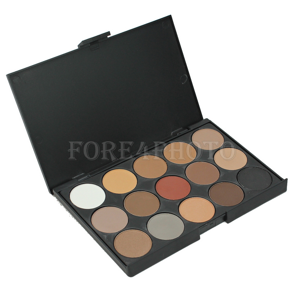 Pro 15 Colors Women Cosmetic Makeup Neutral Nudes Warm Eyeshadow Palette New(China (Mainland))