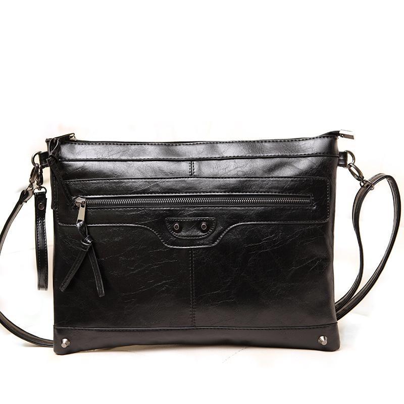 Fashion Clutch Handbags Black Ladies Leather Envelope Clutch Bag Designer Clutch Motorcycle Bag Famous Brand Women Shoulder Bag<br><br>Aliexpress