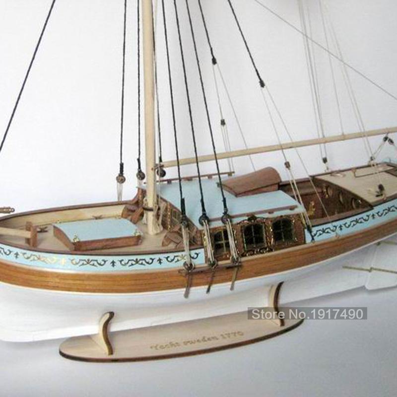 YACHT SWEDEN 1770 Swedish yacht ship model kit(China (Mainland))