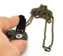 Charming Classic Vintage Mechanical 1PC Mechanical Vintage Bronze Tone Necklace Quartz Elephant Pocket Watch 84cm 33