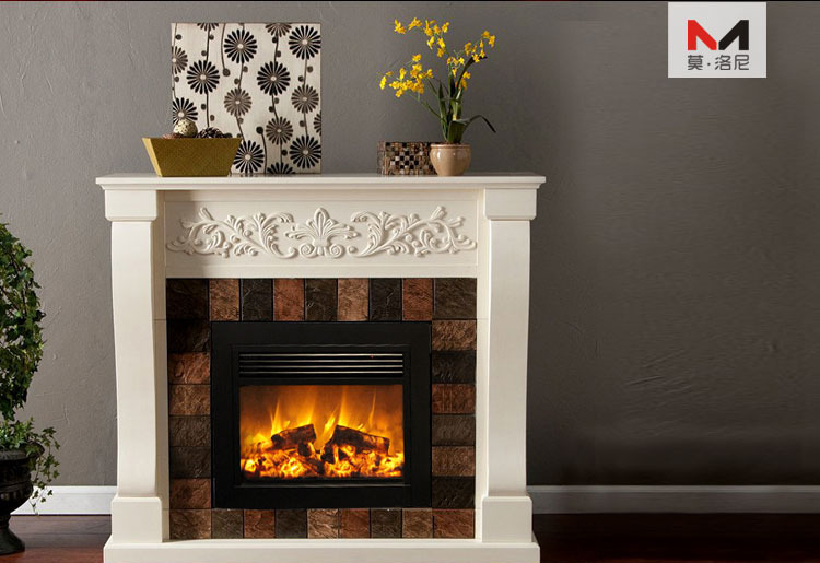 Q 02 Large Flat Panel Cast Iron Electric Fireplace