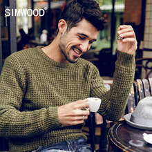 Simwood 2016 New Brand Men Wool Sweater Autumn Winter O-neck Thick Kintwear Pullover Christmas Mens Sweaters High Quality MY396(China (Mainland))