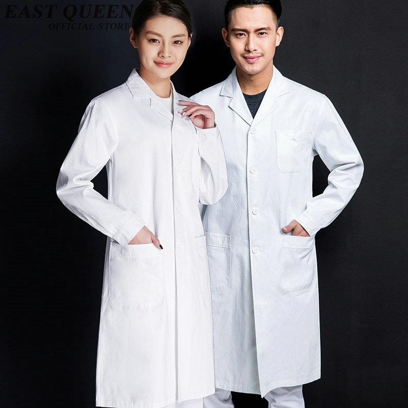 Lab coat white women men medical uniforms scrubs medical uniforms male female white nurse uniform for hospital lab AA876(China (Mainland))