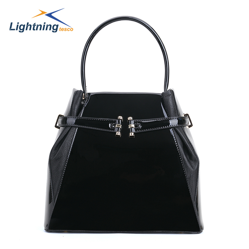 New Arrival Large Capacity Women Handbags Simple Design Casual Women Tote Bags Patent Leather Bags For Women High Quality(China (Mainland))