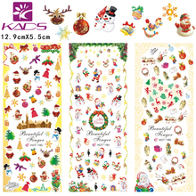 Fashion christmas Designs Hot Water Transfer Nail Stickers Foils Polish Nail Beauty Decals Decoration(3 DESIGNS IN 1)#HOT193-195