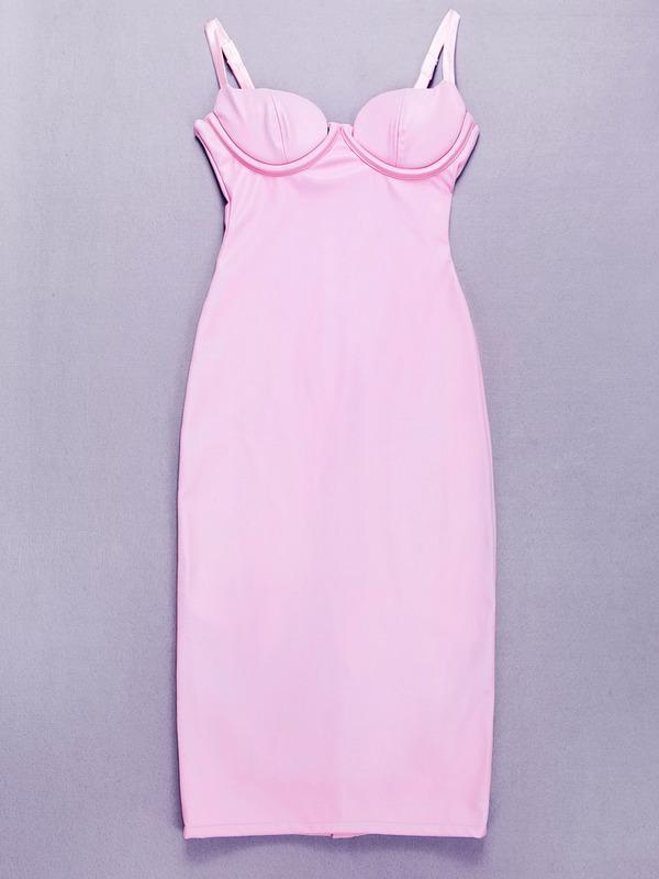 five color 2015 summer new Hot Selling white khaki pink black gold kim kardashian black leather evening party Dress(China (Mainland))
