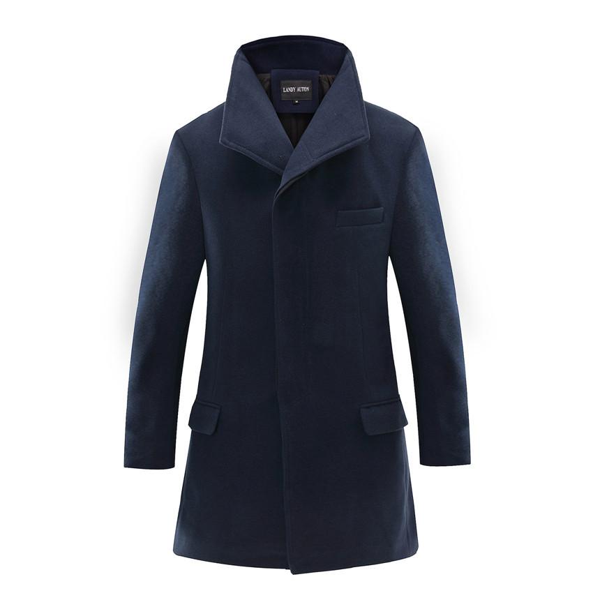2015 New Arrival Excellent Brand Jacket Mens Long Trench Coat Homme Winter Jacket Men Slim Warm Coat Long Section Windbreaker