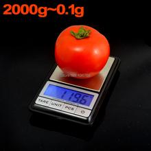 Precio al por menor 0.1 g – 2000 g portátil Blance alta precisión escala Digital escala electrónica del peso inicio cocina balanzas electrónicas