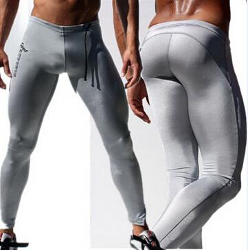Модная новинка 2015! Мужские эластичные компресийные брюки для бега и йоги высокого ...
