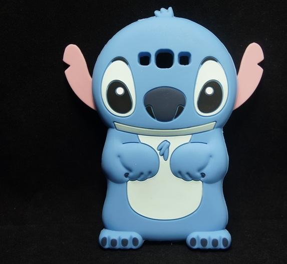 2015 Anime Cartoon Stich Silicon 3D Cute Silicone Back Cover Case Stitch Galaxy A8 3 - TNTC Co., Ltd store
