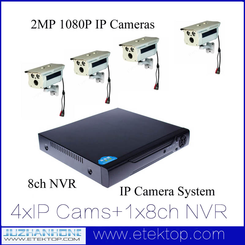 8CH NVR 2MP 1080P HD Night Vision IP Surveillance Camera Kit CCTV Security Camera System PC App Remote View(China (Mainland))