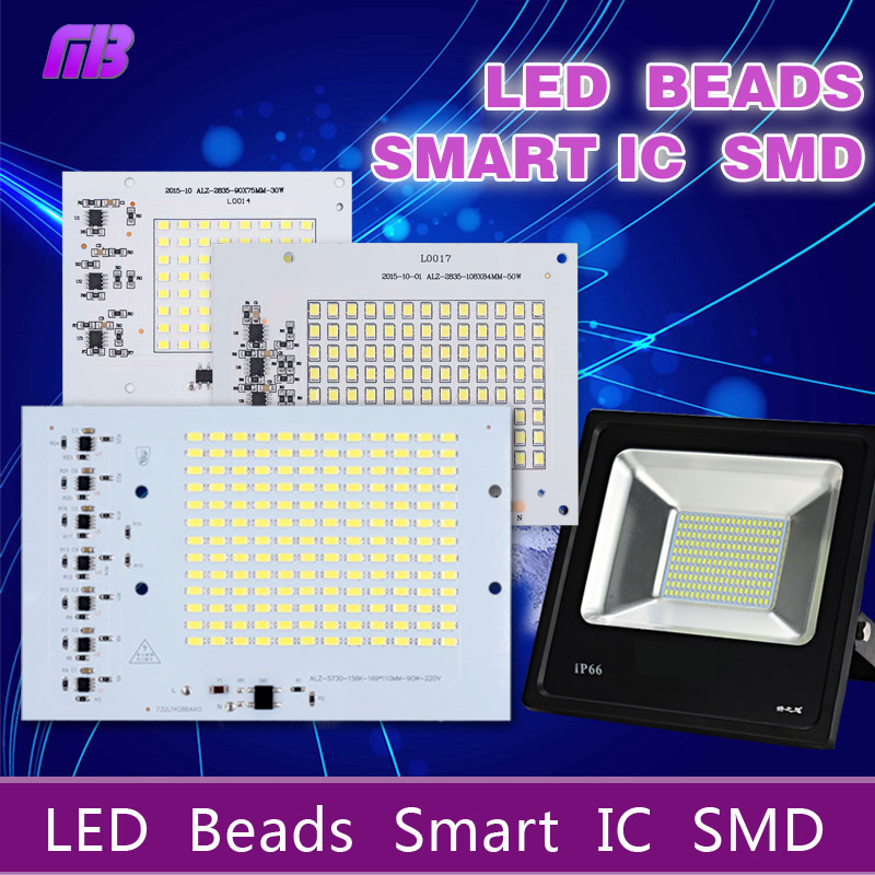 MB-Lighting SMD LED Lamps Chip Bead Smart IC 220V 10W 20W 30W 50W 90W For Outdoor FloodLight Cold White/Warm White(China (Mainland))