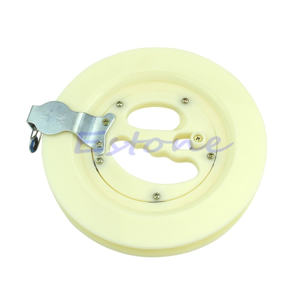 "Free Shipping New White Pro 8"" Blank Sturdy Lockable Kite Line String Reel / Winder /Wheel(China (Mainland))"