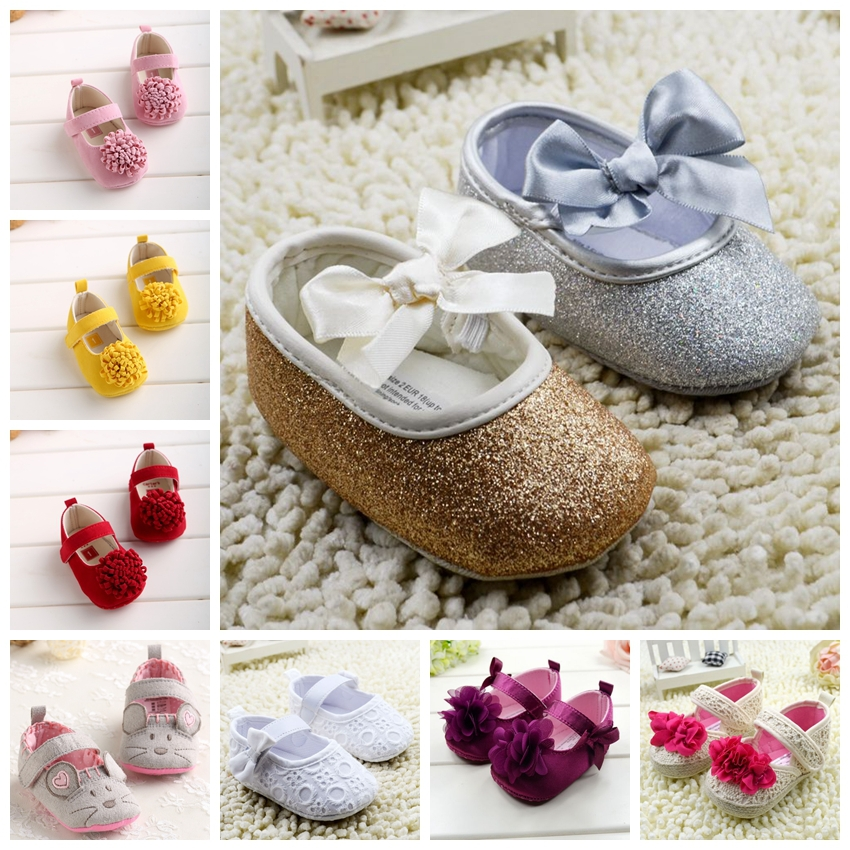 Free Shipping Brand Newborn Baby girls shoes bebe First walkers princess soft sole leather baby Shoes Kids Shoes 11cm 12cm 13cm(China (Mainland))