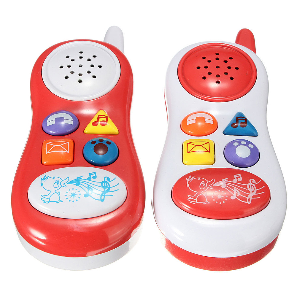 Mini Cute Toy Phone Electric Musical Animal Barking Sound Cell Phone Toy Mobile Phone Children Educational Toys K5BO(China (Mainland))