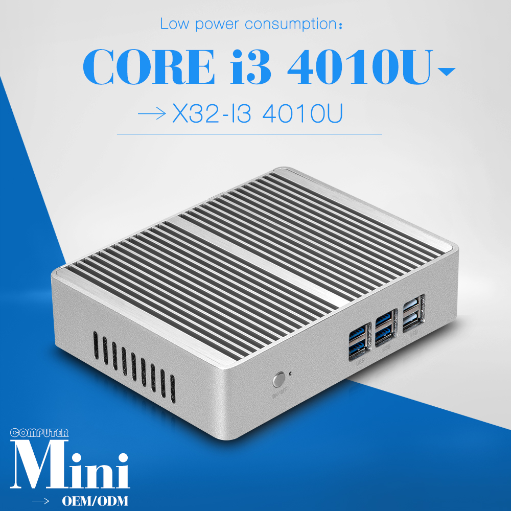 Big promotion!!! x32-i3 4gb ram 16gb ssd micro industrial pc Mini Computer station fanless pc thin client support HD video(China (Mainland))