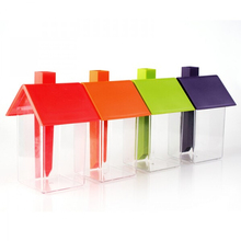 Plastic Storage Jar Organization Plastic Kitchen Storage Box Beans Sugar Container Jar With Spout Jars Set Organizer 1 pc(China (Mainland))