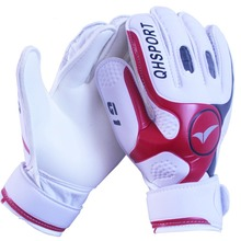 Brand professional soccer goalkeeper gloves 4mm thick latex gloves keeper finger dual protection goalie gloves size 9(China (Mainland))