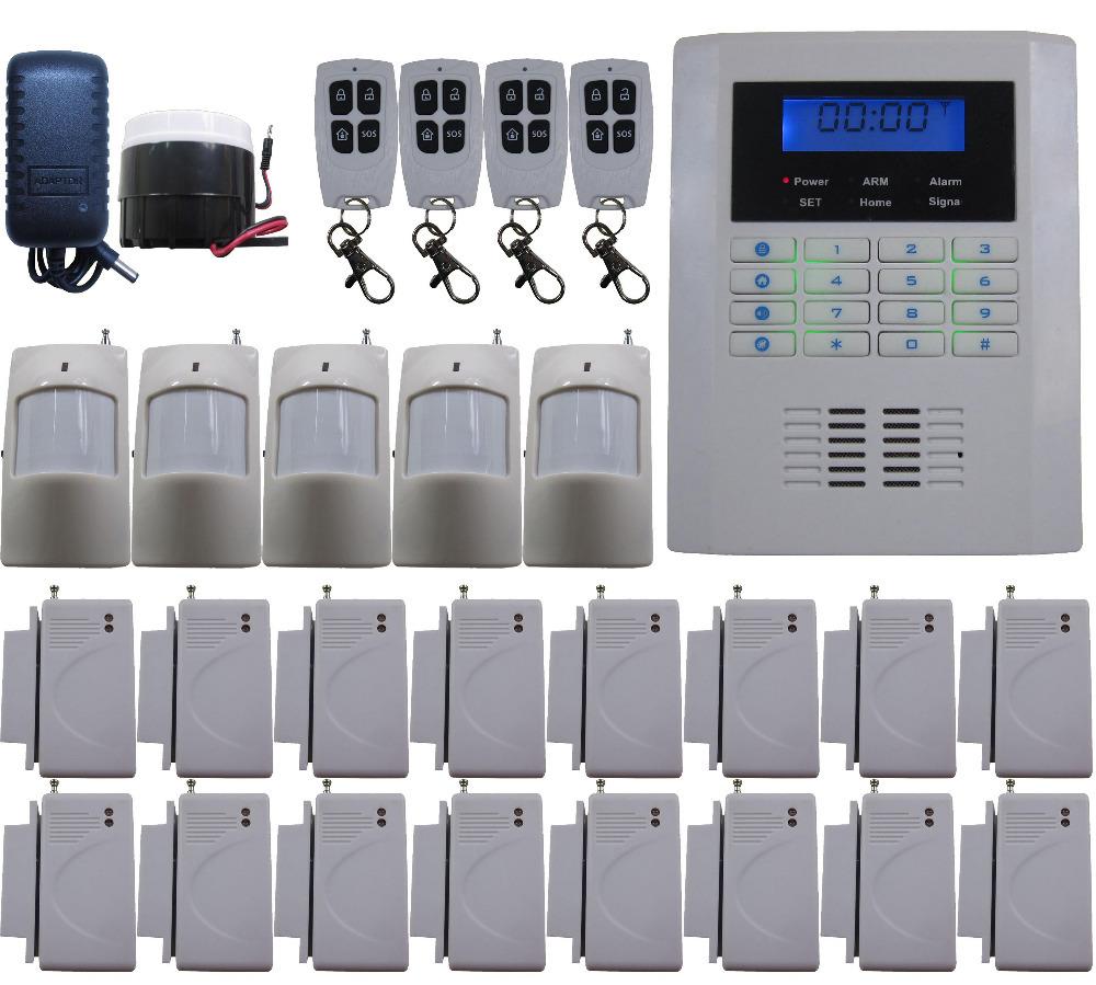 K34 Quad-Bands 850/900/1800/1900MHz GSM PSTN Dual Net Wireless Smart DIY Home House Alarm Burglar Thief System Auto SMS Dial(China (Mainland))