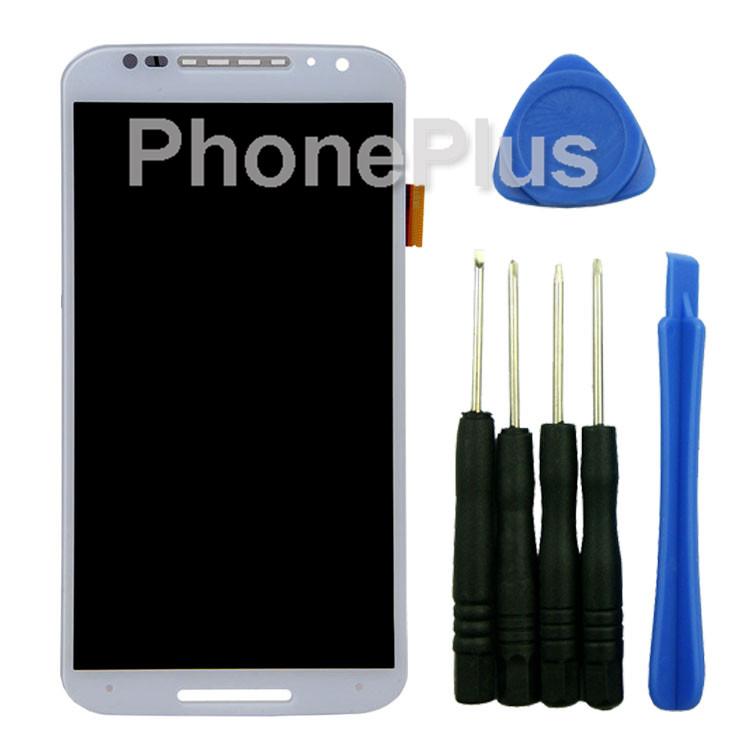 For Motorola MOTO X (2nd Gen) XT1085 XT1095 XT1096 XT1097 Digitizer Front Glass LCD Screen Assembly Repair Touch Screen White