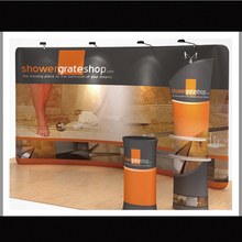 20ft portable tension fabric trade show display pop up booth exhibit with custom graphic printing(China (Mainland))