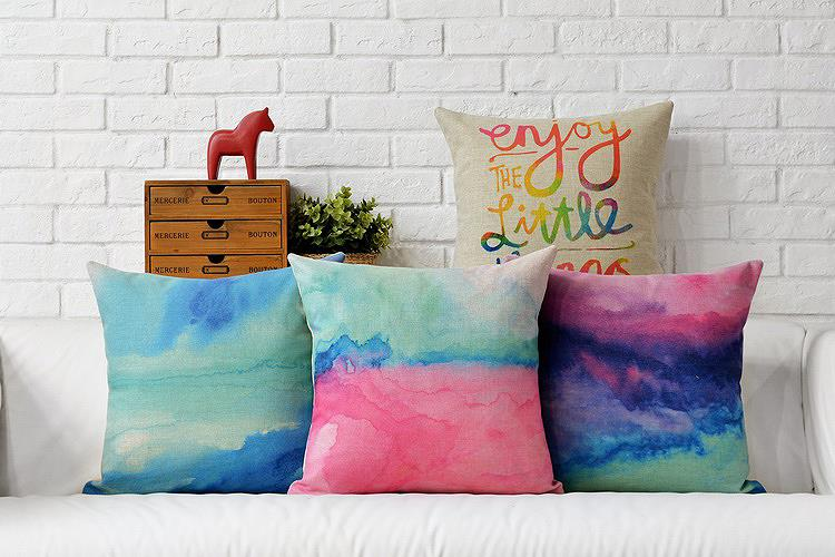 Creative watercolor Decorative Cushion Covers fantasy modern Cushions For Sofas <font><b>Scandinavian</b></font> style Cushions <font><b>Home</b></font> <font><b>Decor</b></font>