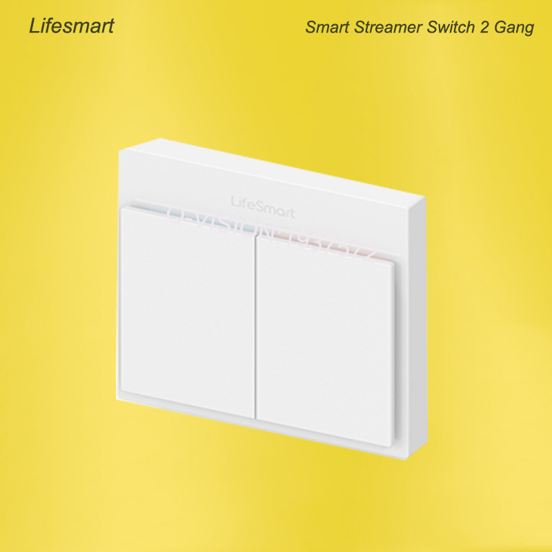 Lifesmart UK Type Blend Streamer Smart Switch Cell Phone APP Remote Control 16 million Color RF433 AC220V Smart Home IOS Android-2