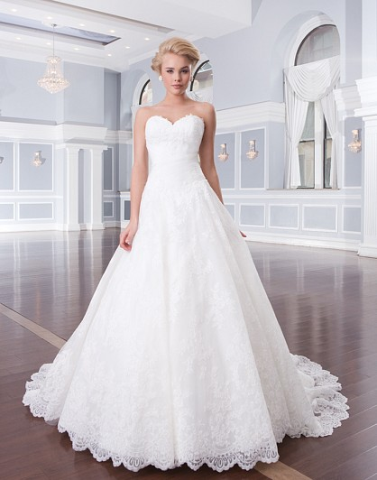 Designer wedding dress 2015 simple elegant ball gown for Simple elegant wedding dress designers