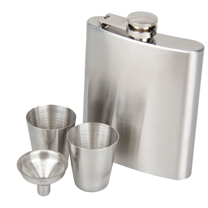 Portable Stainless Steel 7oz Hip Flask Flagon Whiskey Wine Pot Bottle Gift Free Shipping(China (Mainland))