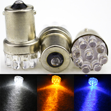 10 x 9 SMD LED 1156 ba15s 12V bulb Lamp Truck Car Moto Tail Turn Signal Light White / Red / Blue/yellow(China (Mainland))