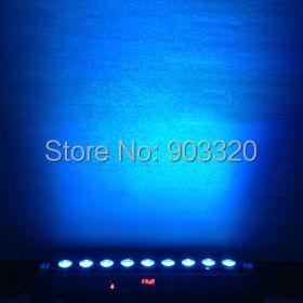 Купить Раша горячая распродажа 2.4 г 9 шт. * 10 Вт RGBA / RGBW 4на1 Chargeble энергии беспроводной DMX512 из светодиодов прожекторы свет, Стадия настенные светильники 110 - 260 В