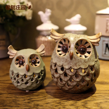 2015 Modern Wedding Candlesticks European Retro Romantic Night Light Aroma Candles Candlestick Hollow Owl Ornaments Wedding Gift (China (Mainland))