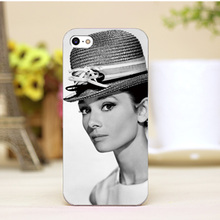 pz0006-2-1-8 Audrey Hepburn Design cellphone cases For iphone 4 5 5c 5s 6 6plus Shell Hard Lucency Skin Shell Case Cover