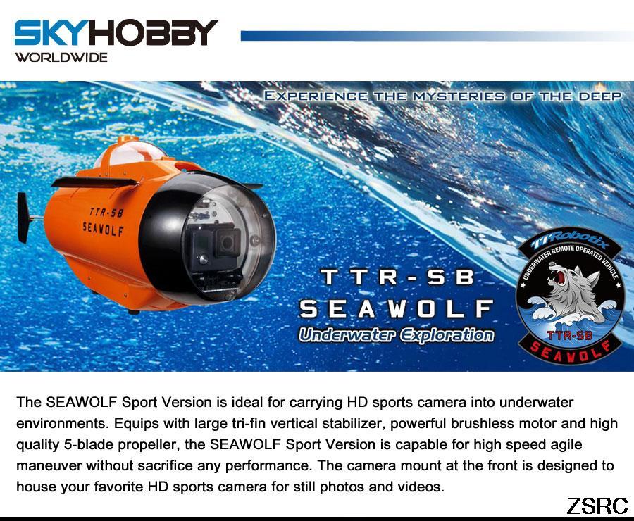 Thunder Tiger RC Seawolf Sport Submarine 75MHz 5222-F03V RTR